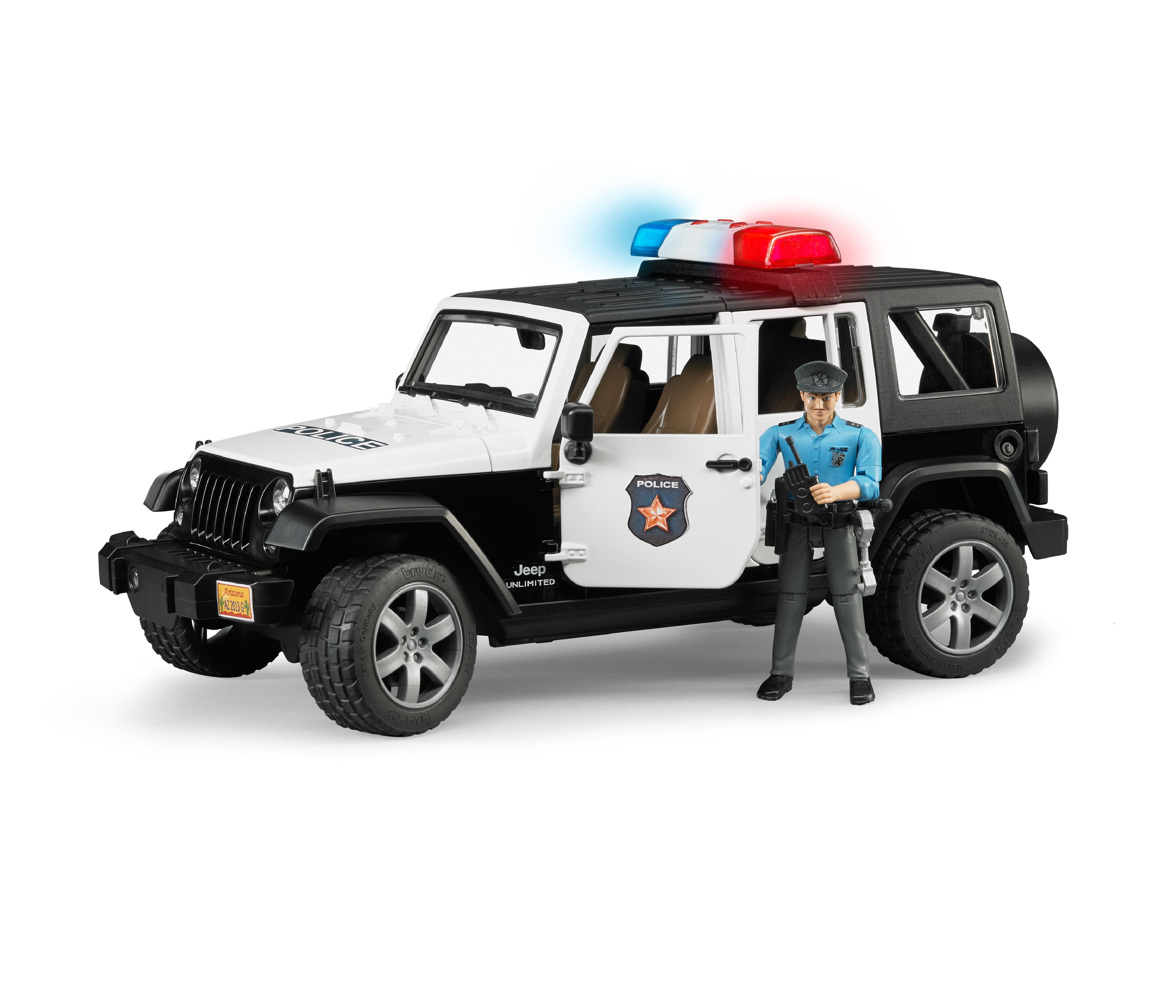 Bruder Jeep Wrangler Unlimited Rubicon Police Car With