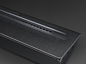 Close-up of top of the Soundbar