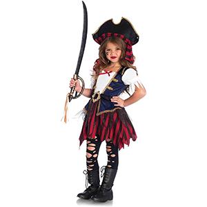 Lil Pirate/'s Treasure Caribbean Pirate Girl/'s Costume