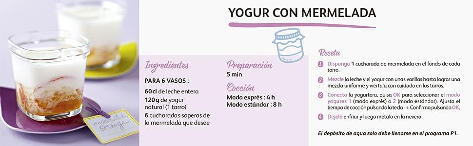 Moulinex Multidelices Express YG660120 - Yogurtera Eléctrica con 5 ...