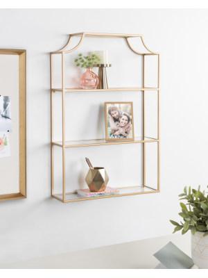 kate laurel rustic floating wall shelf bookcase bookshelf books library