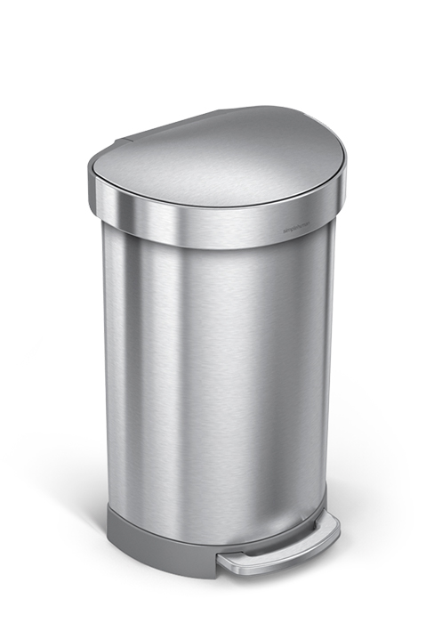semi-round trash can