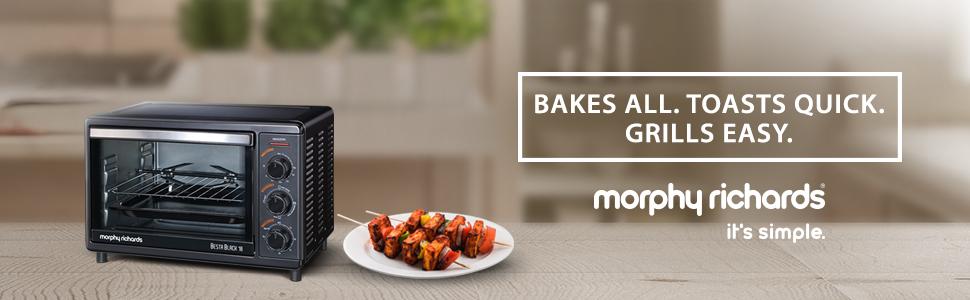 Morphy Richards OTG Besta 18-Litre Oven Toaster Grill (Black)