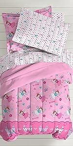 cotton kids bedroom twin bed comforter sham soft cozy sea mermaid boys girls quilt blanket pillow