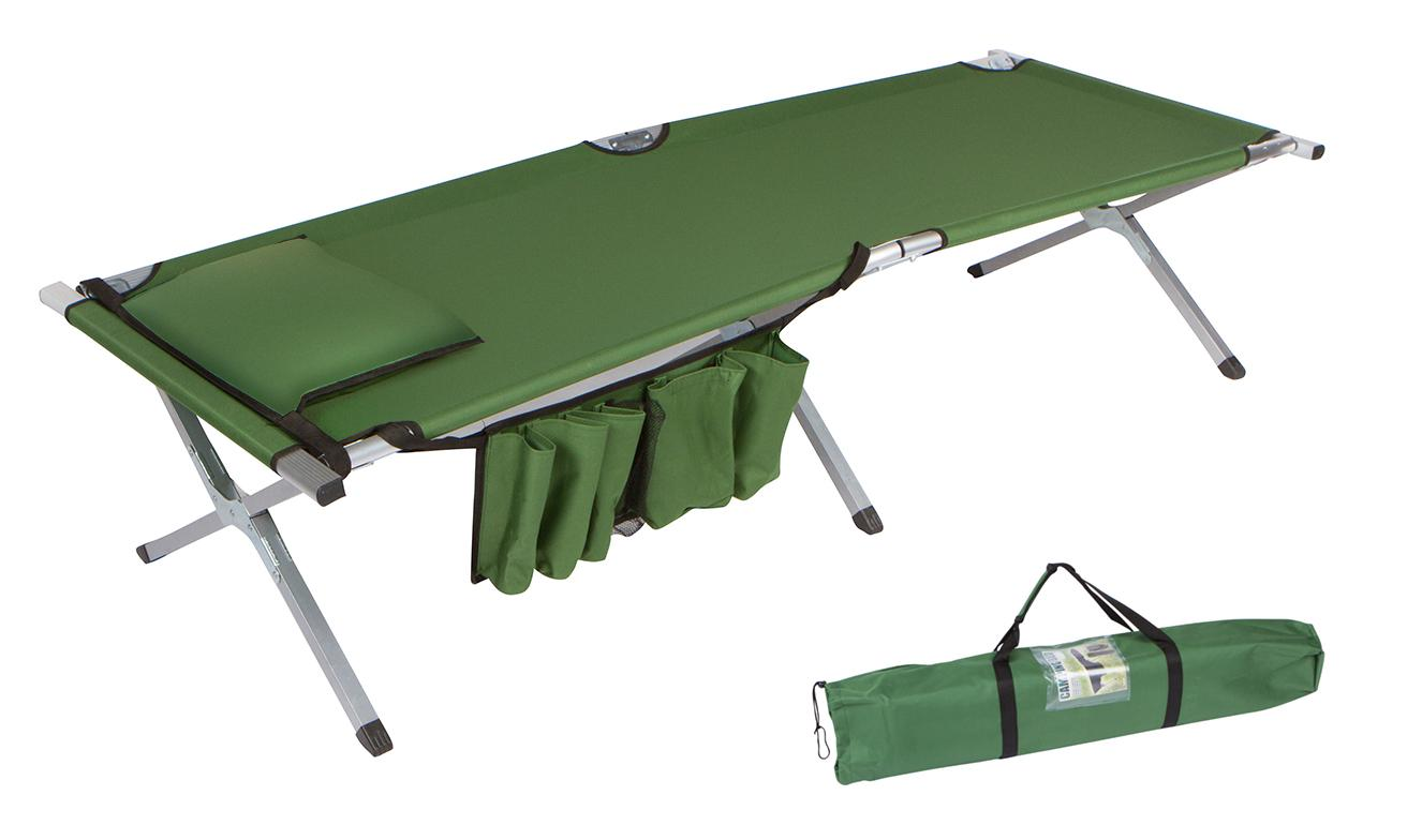 Amazon Com Trademark Innovations 75 Quot Portable Folding Camping Bed Amp Cot With Pillow Amp Side