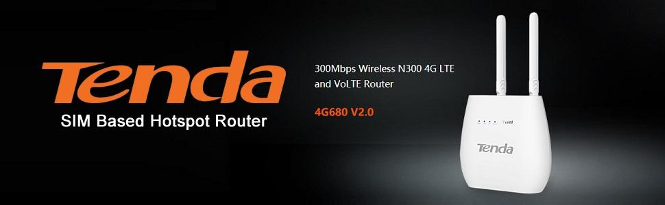 tenda 4g sim based hotspot router