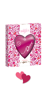 Spread the love with DOVE Solid Chocolate Gifts shaped like a heart.