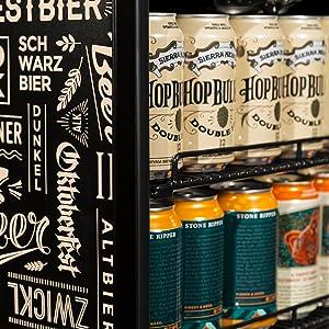 Beverage cooler, beverage refrigerator, beverage fridge, beverage center