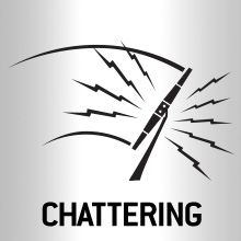 Chattering wiper blades