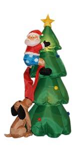 Amazon Com Animated 8 Foot Wide Christmas Inflatable