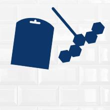 Domestos Power 5 WC-steen (voor een schone WC Ocean met anti-kalkbescherming) (9 x 55 g)