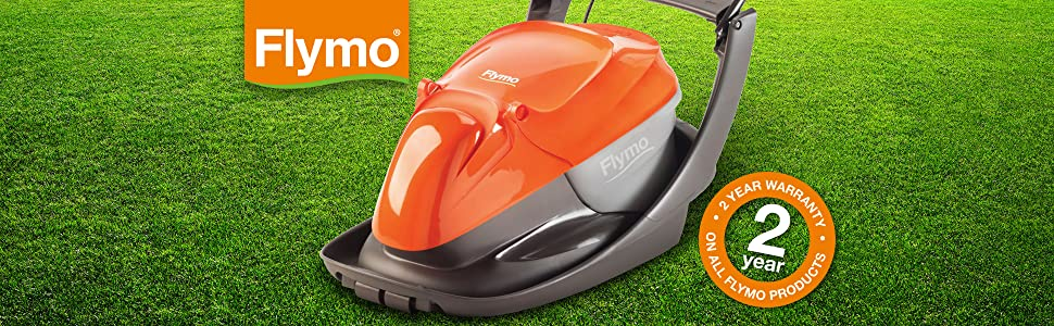 Flymo Easi Glide 300 Electric Hover Collect Lawnmower, 1300W, Cutting Width 33cm