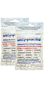 Dry-Packs 1gm Moisture Absorbing Silica Gel Indicating Packet, Pack of 2