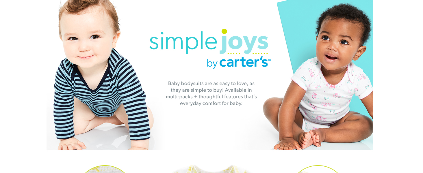 Simple Joys by Carters Baby Girls 6-Pack Sleeveless Bodysuit