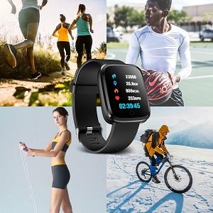 Verpro Smart Watch, Waterproof Fitness Activity Tracker with Heart Rate Monitor, Wearable Oxygen Blood Pressure Wrist Watch, Bluetooth Running GPS ...