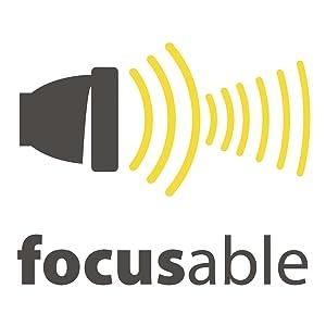 focus, zoombaar, logo, hoofdlamp