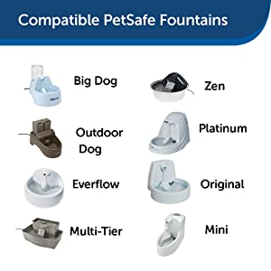 fountain compatibility carbon filters