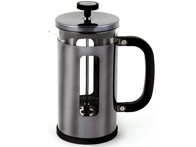 creative tops la pisa 8 cup gun metal black cafetiere. Black Bedroom Furniture Sets. Home Design Ideas