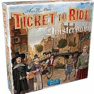 Ticket to Ride Amsterdam, Ticket to Ride, Productshot, bordspel, days of wonder