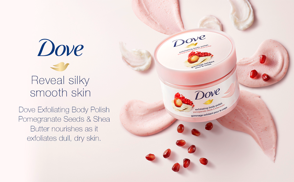 Dove Exfoliating Body Polish Pomegranate and Shea Butter Product Image