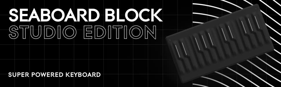 Roli Seaboard Block Studio Edition Super Powered Keyboard Add Instant Expression To Your Music Bend Pitch Adjust Timbre Shape Sound With Natural Gestures On A Soft Touch Responsive Surface Musical Instruments