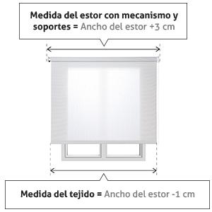 Estores Basic, Stores screen, Blanco, 105x180cm, estores para ...