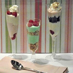 individual;dessert;parfait;sundae