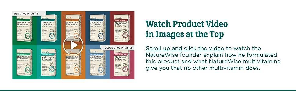 Amazon.com: naturewise Men s Multivitamin & Mineral Whole ...