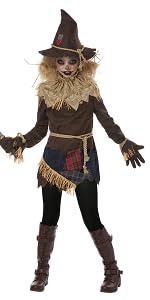 Scarecrow, Pumpkin Patch, Scary, Creepy, Girl's Costume, Halloween, Haunted House, Corn Maze