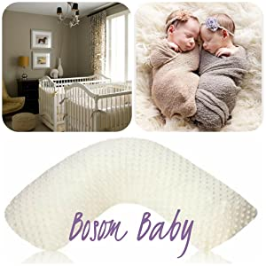 Amazon.com: Luna Lullaby Seno bebé cojín de lactancia ...
