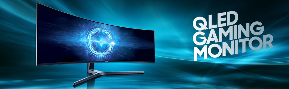 """Samsung C49HG90DMU – Monitor Curvo Gaming 49"""" (QLED, 2 x Full HD, 32:9, 144 Hz, 1 ms, HDR, 3000:1, 1800R, FreeSync): Samsung: Amazon.es: Informática"""