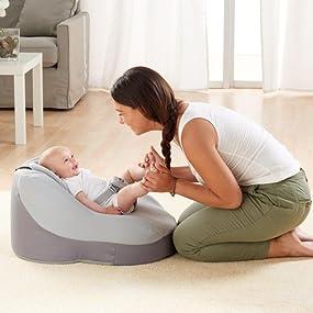 Chicco Comfy Nest - Sillón ergonómico viscoelástico, garantiza correcta posición del bebé, color gris
