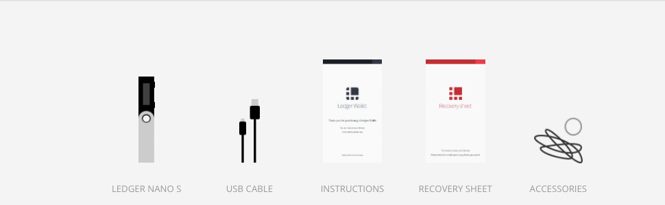 Ledger nano S, usb cable
