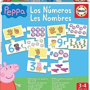 Educa - Aprendo Los Números Peppa Pig, juego educativo para niños, a partir de 3 años (16224): Amazon.es: Juguetes y juegos
