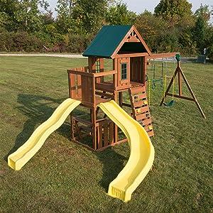Amazoncom Swing N Slide Ws 8355 Castlebrook Swing Set With Two