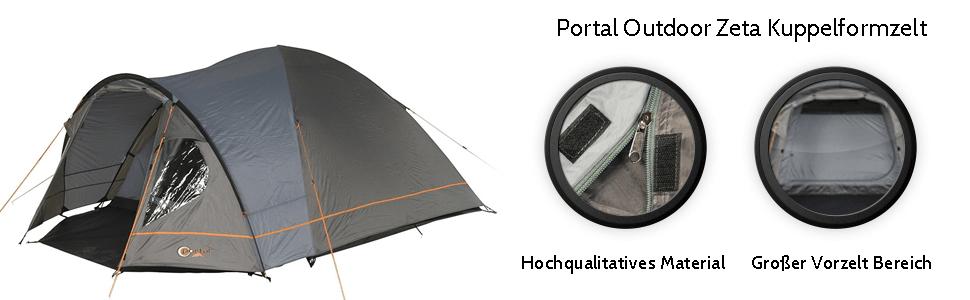 Portal POR2918 4260182766675 Tent, Grau, 3