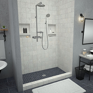 Tile Redi Barrier Free Shower Pan.Tile Redi Usa 3060lspvc 13 2 4 Redi Base Shower Pan 60 W X 30 D Black