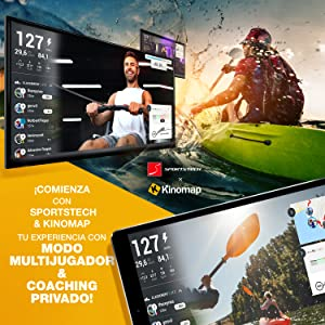 Telefono con aplicacion Kinomap