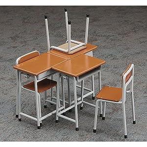 ハセガワ 1/12 フィギュアアクセサリーシリーズ 学校の机と椅子 プラモデル FA01