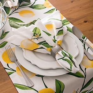 summer dining table,lemon table,lemon outdoor décor,table runner 14x72,tablerunner bliss,party table
