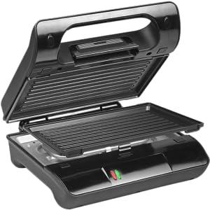 Princess 117001 Grill Compact Flex – Parrilla con placas extraíbles, almacenamiento vertical