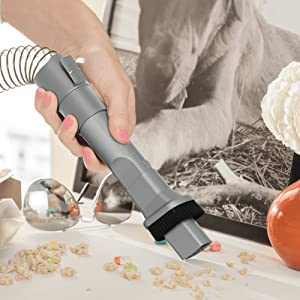 dusting brush crevice 2in1 tool