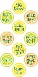 Lemon Zest Positive Sayings Accents