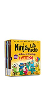 ninja life hacks emotions and feelings book box set emotions spot box set Mary nhin ninja collection