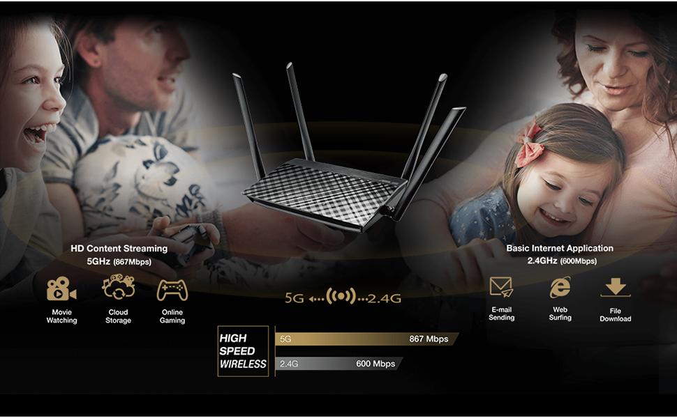 ASUS RT-AC59U - Super-fast concurrent Wi-Fi
