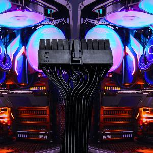flat black cable cooler master