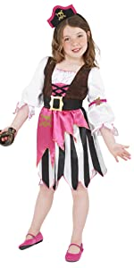 Kinder Piratin Kostüm