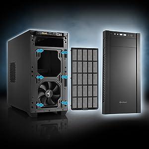 Sharkoon S1000 - Caja de Ordenador, PC Gaming, MICRO-ATX, Negro: Amazon.es: Informática