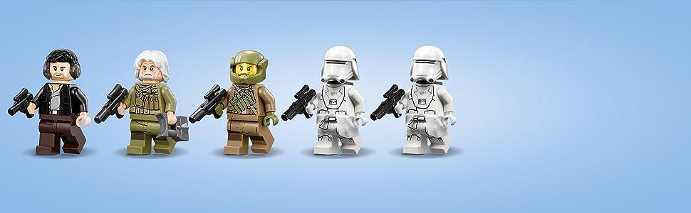 Amazon lego star wars defense of crait spielzeug