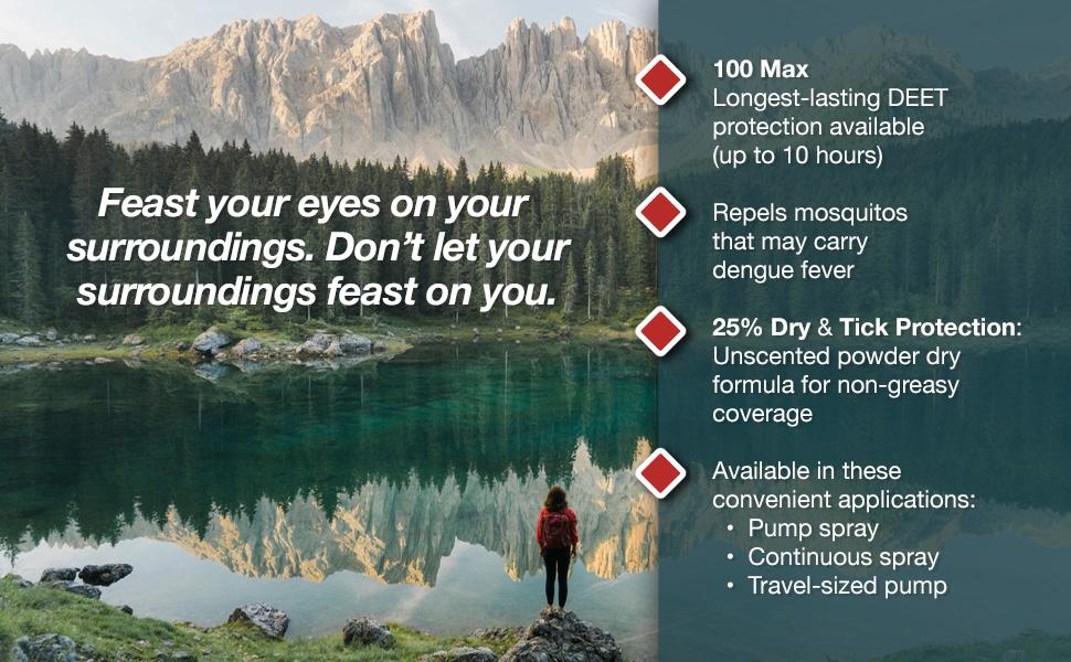 DEET repellent, mosquito repellent, tick protection